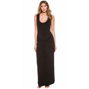 NWT's Rachel Zoe Sarong Wrap Black Maxi Dress